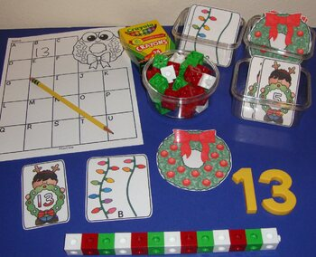 Christmas Centers Activities Holiday Math Literacy Center Kindergarten Preschool