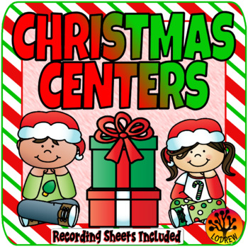 Christmas Centers Activities Holiday Math Literacy Center