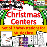 Christmas Centers-Workstations for Music Class