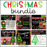 Christmas Centers, Writing, Worksheets, & Task Cards BUNDLE