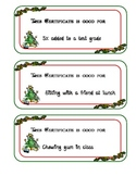 Christmas Certificates / Coupons for students