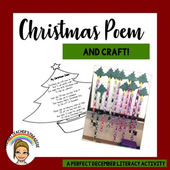 Christmas Chain + Poem Activity