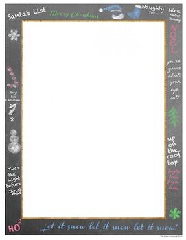 Christmas Chalkboard Backgrounds and Borders