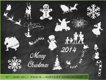 Christmas Chalkboard Clipart