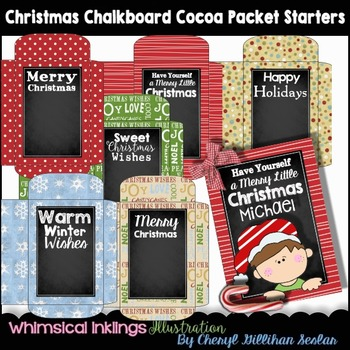 Christmas Chalkboard Cocoa Packet Starters