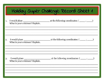 Christmas Challenge! Holiday Character Trait, Evidence, Reasoning: ELA/Math