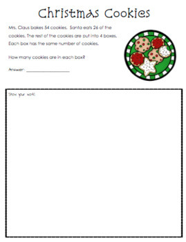 Christmas Challenge Problems FREEBIE