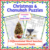 Christmas & Chanukah Word Search & Crossword Puzzles: Prin