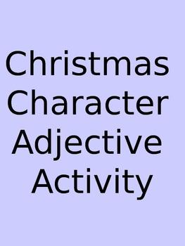 Christmas Character Adjective Activity