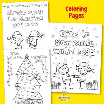 Christmas Character Building Writing Activities & Coloring Pages - US Letter