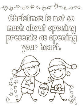 Christmas Character Building Writing Activities & Colouring Pages - A4