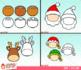 Christmas Character Faces Emojis Clip Art Bundle