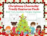 Christmas Character Traits Resource Pack Reading Comprehension Graphic Organizer