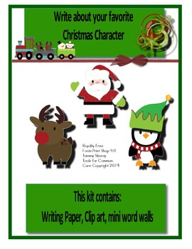 Christmas Character writing paper