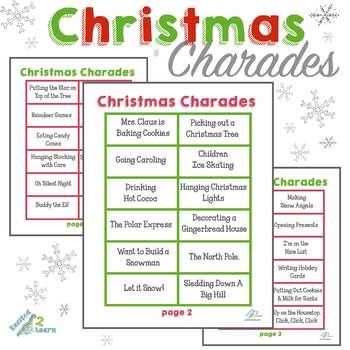 Christmas Charades.Christmas Charades