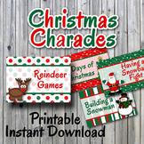 Christmas Charades Printable PDF - Party Game Printable