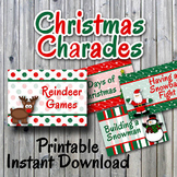 Christmas Charades Printable PDF - Party Game Printable