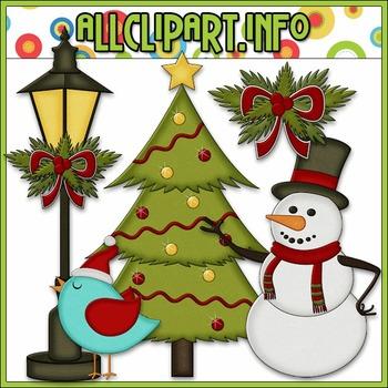 BUNDLED SET - Christmas Cheer Accents Clip Art & Digital Stamp Bundle