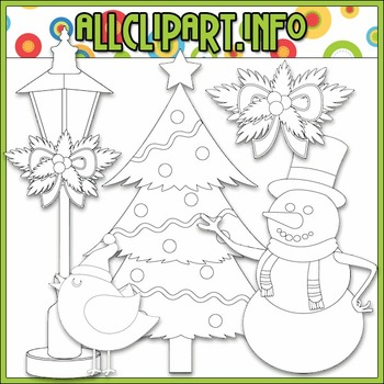 BUNDLED SET - Christmas Cheer Accents Clip Art & Digital Stamp Bundle
