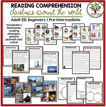 Christmas Reading Comprehension Around the World - ESL Activity Pack