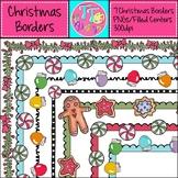 Christmas Cheer Borders Frames {8.5 x 11} Clip Art CU OK