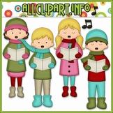 BUNDLED SET - Christmas Cheer Carolers Clip Art & Digital Stamp Bundle