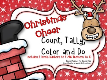 Christmas Cheer* Color, Count, Tally & Do- Instant and Int