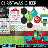 Christmas Cheer Digital Paper & Clip Art Set