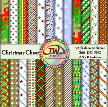 Christmas Backgounds - Clip Art - Digital Papers - 8.5x11