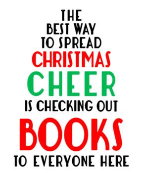 Christmas Cheer Library Printable