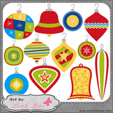 Christmas Cheer Ornaments 1 - Art by Leah Rae Clip Art & L