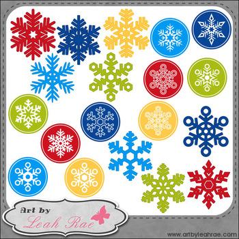 Christmas Cheer Snowflakes 1 - Art by Leah Rae Clip Art & Line Art / Digi Stamps