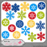 Christmas Cheer Snowflakes 1 - Art by Leah Rae Clip Art &