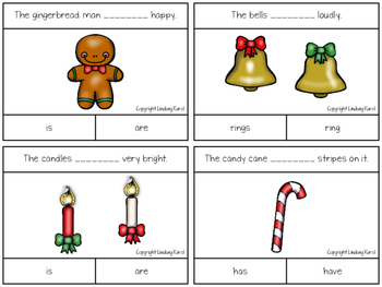 Christmas Cheer Subject-Verb Agreement Pack