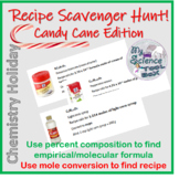 Christmas Chemistry Recipe Hunt!  Empirical formulas and mole conversions!