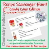 Christmas Chemistry Recipe Hunt!  Empirical formulas and m