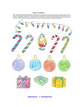 Christmas Chemistry Review Worksheet w/ Coloring fun for ...