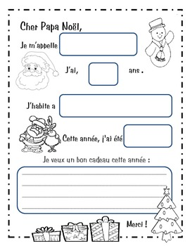 cher pa¨re noal everything to write a letter to santa in french