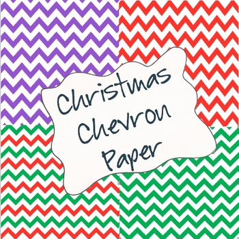 Christmas Chevron Paper Pack