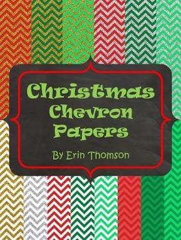 Christmas Chevron Papers