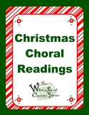 Christmas Choral Readings, Original Poems for Christmas Programs or Just for Fun
