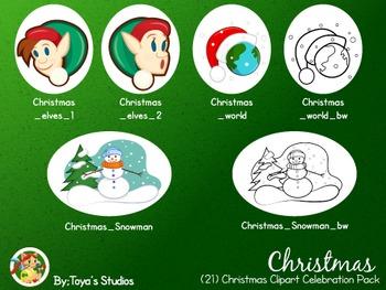 Christmas- Christmas Clipart Celebration Pack