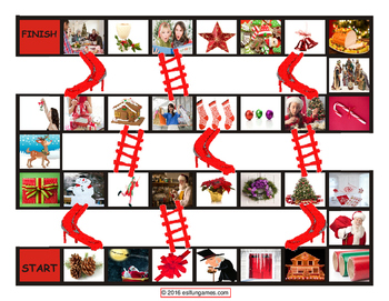 Christmas Chutes and Ladders Board Game