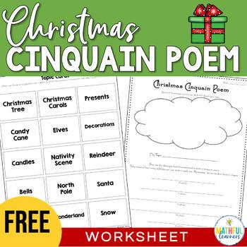 Christmas Cinquain Poem FREE