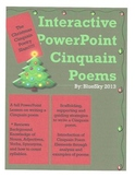 Christmas Cinquain Poetry Slam Interactive PowerPoint