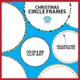 Christmas Circle Borders & Frames Clip Art