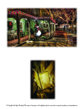 Christmas Circle Story Planner and Picture Prompts