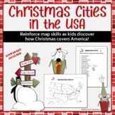 Christmas Cities in the US Geography Map Activity