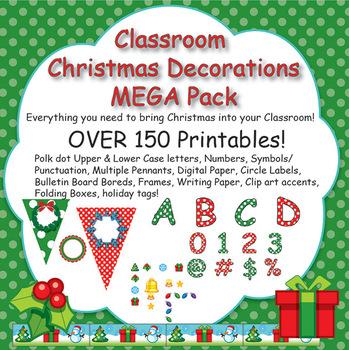 christmas class decoration mega pack - Christmas Classroom Decorations