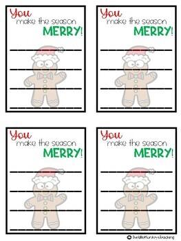 Christmas Class Gratitude Notes
